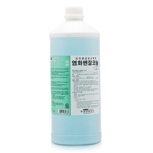 M 성광 염화벤잘코늄액 1L - 외피용살균소독제