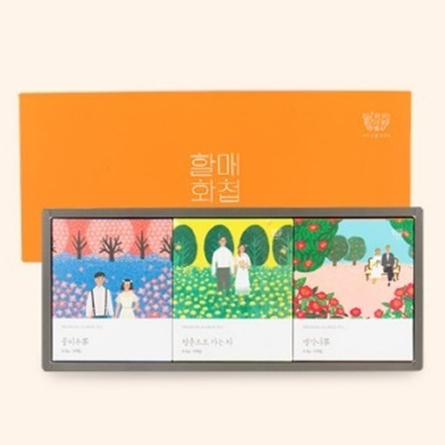 M 할매화첩 건강꽃차 3종 선물세트