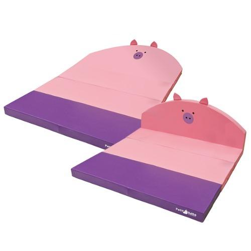 M 층간소음방지 4단 핑크피그 폴딩매트 PT6115 - 놀이방매트