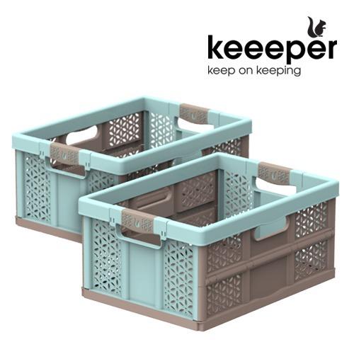 M (1+1) 키퍼 폴딩박스 32L x 2개 - 캠핑용품 정리수납박스
