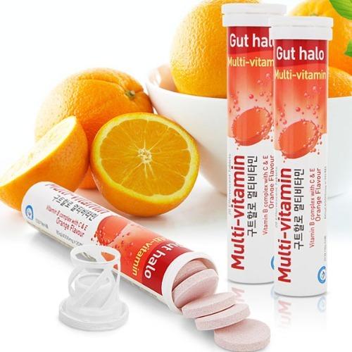 M 구트할로 발포 멀티비타민 (4000mg x 20정) 오렌지맛