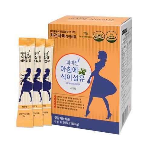 M 파마젠 아침에 식이섬유 85% 사과맛 6g 30포 차전자피 영양제